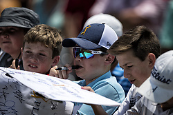 May 11, 2018 - Ponte Vedra Beach, FL, USA - The Players Championship 2018 at TPC Sawgrass.Young fans wait for autographs. (Credit Image: © Bill Frakes via ZUMA Wire)