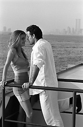 Couple on a ferry boat in New York City
