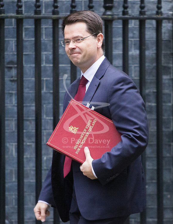 Downing Street, London, October 18th 2016. Northern Ireland Secretary James Brokenshire arrives at the weekly cabinet meeting at 10 Downing Street in London.