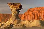 Hongo, Pillar Rock, Parque Ischigualasto, Valle de la Luna, near San Augustin de Valle Fertil, San Juan, Argentina, South America