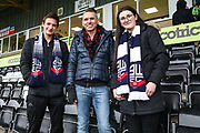 Forest Green Rovers Chairman Dale Vince with Bolton supporters during the EFL Sky Bet League 2 match between Forest Green Rovers and Bury at the New Lawn, Forest Green, United Kingdom on 19 January 2019.