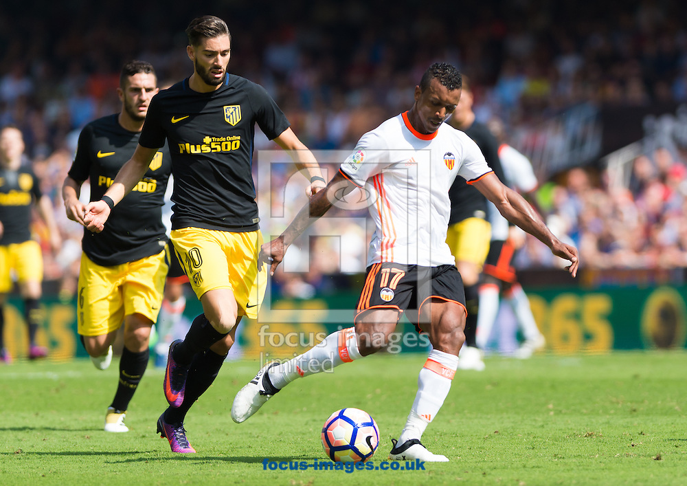 Luis Nani of Valencia CF during the La Liga match at Mestalla, Valencia<br /> Picture by Maria Jose Segovia/Focus Images Ltd +34 660052291<br /> 02/10/2016