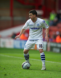 SHEFFIELD, ENGLAND - Saturday, March 17, 2012: Tranmere Rovers' David Buchanan in action against Sheffield United during the Football League One match at Bramall Lane. (Pic by David Rawcliffe/Propaganda)