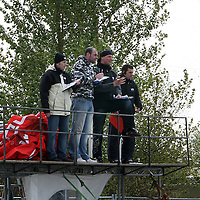 The judges watch the action from the Prodrift Racing in Ennis at the weekend.<br /> Photograph by Yvonne Vaughan