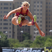 Snezana Vukmirovic, Slovenia, in action during the Women's Triple Jump competition during the Diamond League Adidas Grand Prix at Icahn Stadium, Randall's Island, Manhattan, New York, USA. 14th June 2014. Photo Tim Clayton