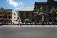 Voters line up at a polling station in downtown Nairobi. This line wrapped around more than two city blocks twice, stretching over a kilometer.