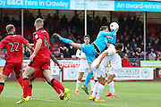 Crawley Town Goalkeeper Glenn Morris catches the ball  during the EFL Sky Bet League 2 match between Crawley Town and Luton Town at the Checkatrade.com Stadium, Crawley, England on 17 September 2016. Photo by Phil Duncan.