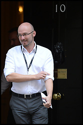Michael Salter Political Head of Broadcasting for 10 Downing Street, leaves No10 Downing Street after Cabinet Meeting in the Syria Crisis, London, United Kingdom. Thursday, 29th August 2013. Picture by Andrew Parsons / i-Images