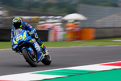 June 1, 2018 - Mugello, Italy - Andrea Iannone of Team Suzuki Ecstar during the Free Practice 1 of the Oakley Grand Prix of Italy, at International  Circuit of Mugello, on June 01, 2018 in Mugello, Italy  (Credit Image: © Danilo Di Giovanni/NurPhoto via ZUMA Press)