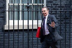 © Licensed to London News Pictures. 22/05/2018. London, UK. Secretary of State for International Trade Liam Fox on Downing Street after the Cabinet meeting. Photo credit: Rob Pinney/LNP