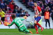 Atletico Madrid's Spanish forward Victor Vitolo scores during the Spanish championship Liga football match between Atletico de Madrid and RC Celta on March 11, 2018 at the Wanda Metropolitano stadium in Madrid, Spain - Photo Benjamin Cremel / ProSportsImages / DPPI