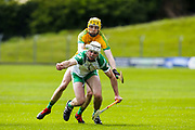 12/05/2019, Christy Ring Cup at Pairc Tailteann<br /> Meath vs London<br /> Eamonn O`Donnacadh (Meath) & Padraig Muldoon (London)<br /> David Mullen / www.cyberimages.net<br /> ISO: 250; Shutter: 1/1250; Aperture: 4.5; <br /> File Size: 7.2MB