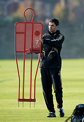 LIVERPOOL, ENGLAND - Monday, November 3, 2008: Liverpool's first team coach Mauricio Pellegrino during training at Melwood ahead of the UEFA Champions League Group D match against Club Atletico de Madrid. (Photo by David Rawcliffe/Propaganda)