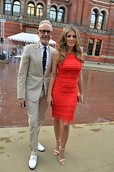 Patrick Cox and Liz Hurley at the V&A Summer Party 2017 held at the Victoria & Albert Museum, London England. 21 June 2017.<br /> Photo by Dominic O'Neill/SilverHub 0203 174 1069 sales@silverhubmedia.com