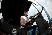 Adelitas Way performing at the Q101 Jamboree at the First Midwest Bank Amphitheater in Tinley Park, IL on June 3, 2011