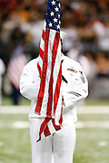 NEW ORLEANS, LA - NOVEMBER 11:  Pregame ceremonies for Veterans before a game between the Atlanta Falcons and the New Orleans Saints at Mercedes-Benz Superdome on November 11, 2012 in New Orleans, Louisiana.  The Saints defeated the Falcons 31-27.  (Photo by Wesley Hitt/Getty Images) *** Local Caption ***