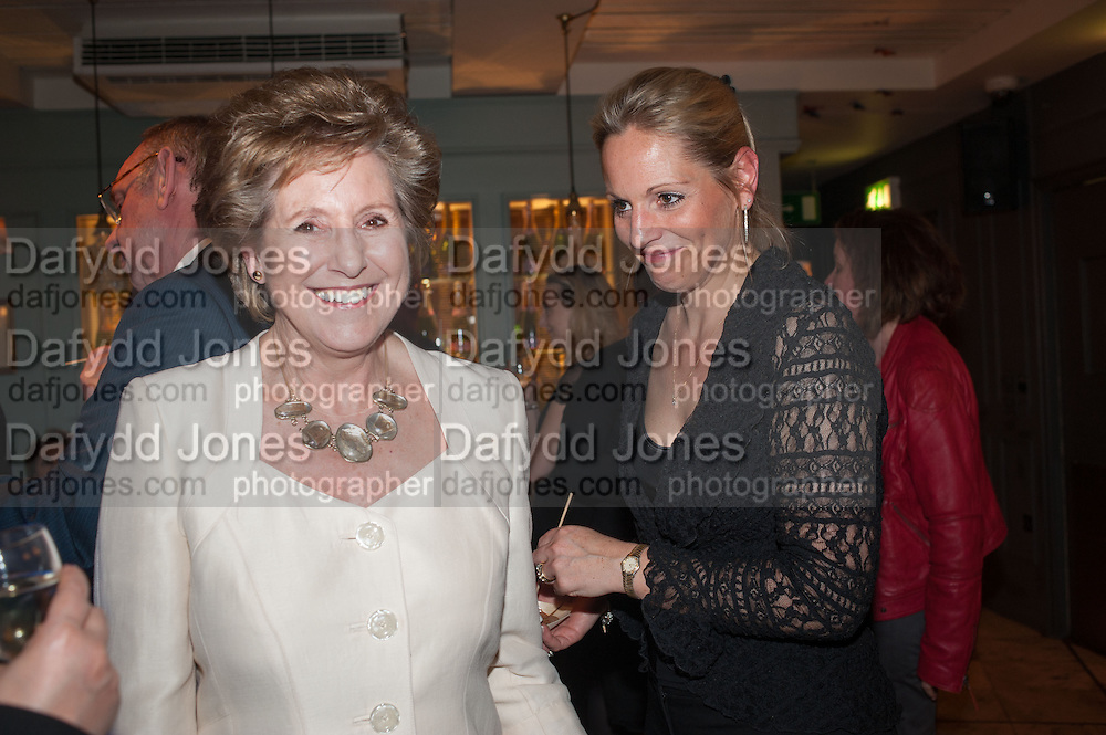 DAME NORMA MAJOR; ELIZABETH MAJOR, The press night performance of the Menier Chocolate Factory's 'Merrily We Roll Along', following its transfer to the Harold Pinter Theatre, After-show party at Grace Restaurant, Gt. Windmill St. London. 1 May 2013.