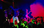 Clubbers dancing, 2000's