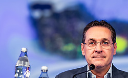 06.04.2019, Design Center, Linz, AUT, 34. Ordentlicher Landesparteitag der FPÖ Oberösterreich, im Bild FPÖ Bundesparteiobmann Vizekanzler Heinz Christian Strache // FPÖ Federal Party Chairman Vice Chancellor Heinz Christian Strache  during the 34th Ordinary party convention of the FPÖ Upper Austria at the Design Center in Linz, Austria on 2019/04/06. EXPA Pictures © 2019, PhotoCredit: EXPA/ JFK