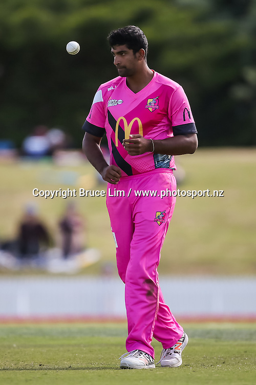 Knights' Ish Sodhi during the McDonalds Super Smash T20 cricket match - Knights v Volts played at Bay Oval, Mount Maunganui, New Zealand on Sunday 18 December.<br /> <br /> Copyright photo: Bruce Lim / www.photosport.nz