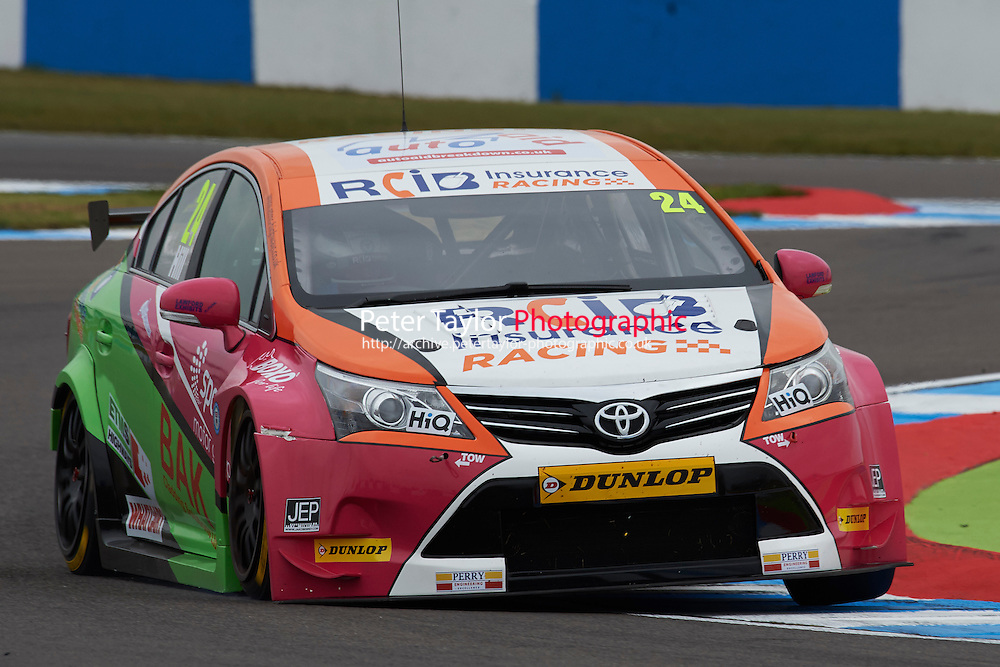 #24 Jake Hill GBR RCIB Insurance Racing Toyota Avensis during Media Day Test Session as part of the BTCC Media Day at Donington Park, Melbourne, Leicestershire, United Kingdom. March 22 2016. World Copyright Peter Taylor/PSP. Copy of publication required for printed pictures.  Every used picture is fee-liable.