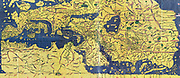 The Tabula Rogeriana, drawn by al-Idrisi  for Roger II of Sicily in 1154,  an important ancient world map.