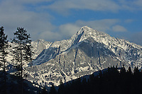 Mount Ishbel as seen from the Trans-Canada Highway in Banff National Park...©2009, Sean Phillips.http://www.Sean-Phillips.com
