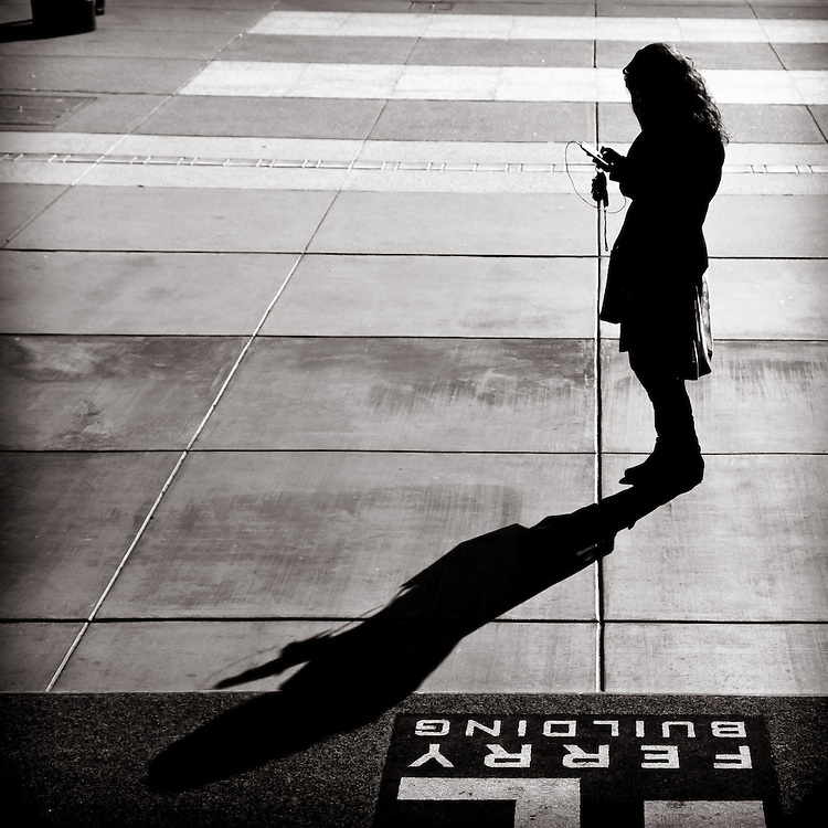 Texting in the sun.
