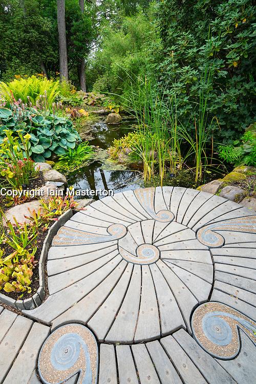 Garden and pond at Inverewe Garden , Wester Ross, Scotland United Kingdom