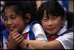 BEIJING, CHINA - Children attend a typical public school in Beijing, China.