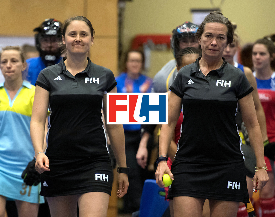 BERLIN - Indoor Hockey World Cup<br /> Namibia - Ukraine<br /> foto: Line Up<br /> WORLDSPORTPICS COPYRIGHT FRANK UIJLENBROEK