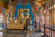 Ornamented room in Cao Dai Temple, Tay Ninh, Vietnam, Southeast Asia