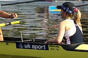 Poznan, POLAND.  2006, FISA, Rowing World Cup, GBR W8+  cox  Caroline O'CONNER.  waits at the start pontoon at the   'Malta Regatta course;  Poznan POLAND, Fri. 16.06.2006. © Peter Spurrier   ....[Mandatory Credit Peter Spurrier/ Intersport Images] Rowing Course:Malta Rowing Course, Poznan, POLAND