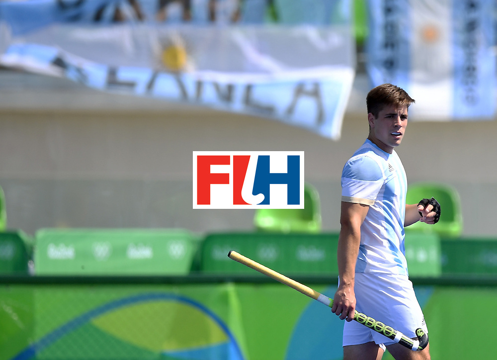 Argentina's Gonzalo Peillat walks on the pitch during the men's semifinal field hockey Argentina vs Germany match of the Rio 2016 Olympics Games at the Olympic Hockey Centre in Rio de Janeiro on August 16, 2016. / AFP / MANAN VATSYAYANA        (Photo credit should read MANAN VATSYAYANA/AFP/Getty Images)