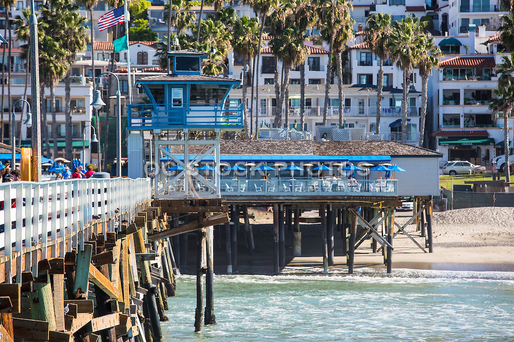 San Clemente's Fisherman's Restaurant and Lifeguard Tower from the Pier
