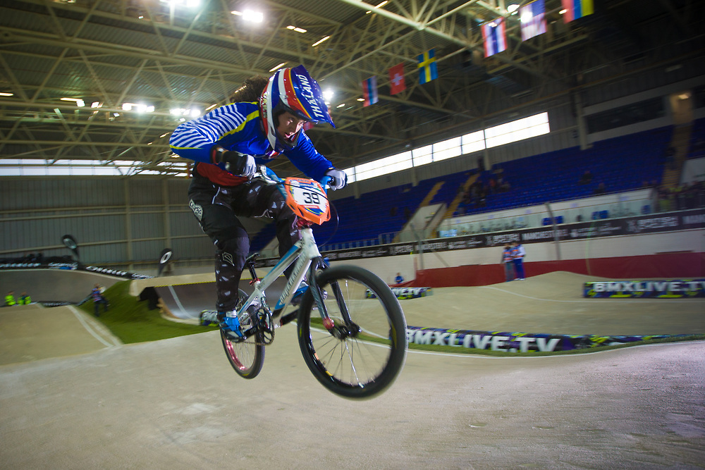#39 (CARR Amanda) THA at the UCI BMX Supercross World Cup in Manchester, UK