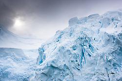 Glacier near Neco harbour in Antarctica