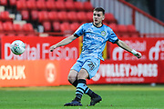 Forest Green Rovers Liam Kitching(20) passes the ball forward during the EFL Cup match between Charlton Athletic and Forest Green Rovers at The Valley, London, England on 13 August 2019.