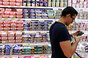 Milan, Look down generation, shopping at the supermarket