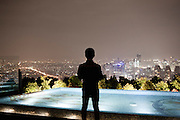 JAKARTA, INDONESIA, MAY 2013:<br /> <br /> <br /> SKYE is the latest venue opened by the Ismaya Group, Located on the 56th floor of the Menara BCA Tower in the center of the city, SKYE's main attraction is the view over the city's skyline. <br /> SKYE is the most spectacular venue in Jakarta at the moment.<br /> <br /> <br /> &copy; Giulio Di Sturco for Bloomberg Markets