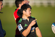 Fumiaki Tanaka at the Highlanders Super Rugby Training Session ahead of their match against the Crusaders on Saturday, University Oval, Dunedin, 22 May 2014. Photo: Derek Morrison/www.photosport.co.nz