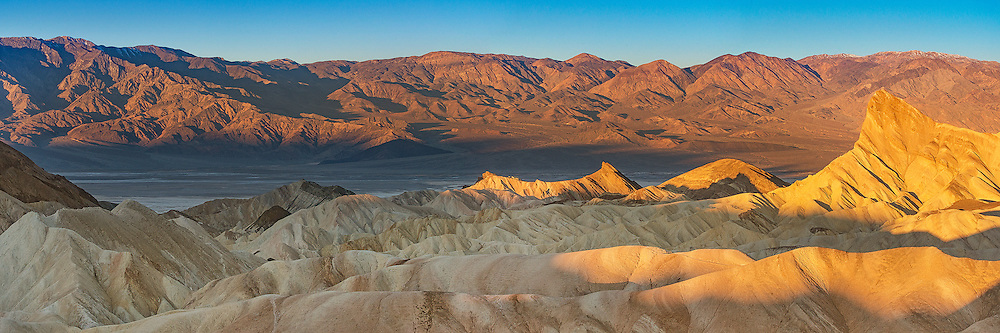Zabriskie Point, Death Valley National Park - Panorama at Sunrise