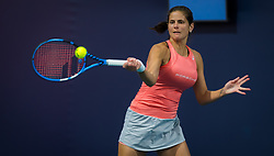 March 21, 2019 - Miami, FLORIDA, USA - Julia Goerges of Germany in action during her first-round match at the 2019 Miami Open WTA Premier Mandatory tennis tournament (Credit Image: © AFP7 via ZUMA Wire)