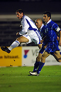 05.09.2001, Olympic Stadium, Helsinki, Finland. FIFA World Cup Qualifying match, Finland v Greece. Shefki Kuqi (FIN)..©JUHA TAMMINEN