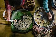 Every month during the full moon, it is an Adat custom (traditional way of life) to pay respects to the gift of rice by having a ceremony. In the communal kitchen of the village,  women are the ones in charge of preparing the specific foods and various sweets  that are special to this occasion.