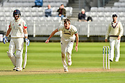 Craig Overton of Somerset bowling during the Specsavers County Champ Div 1 match between Somerset County Cricket Club and Lancashire County Cricket Club at the Cooper Associates County Ground, Taunton, United Kingdom on 14 September 2017. Photo by Graham Hunt.
