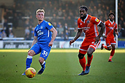 Peterborough Utd's Kyle Dempsey (30) plays a through ball during the EFL Sky Bet League 1 match between Peterborough United and Shrewsbury Town at London Road, Peterborough, England on 23 February 2019.