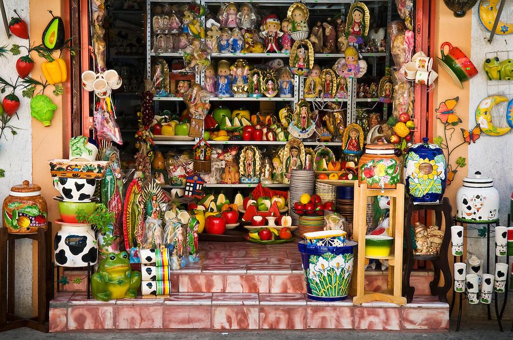 Ceramics shop in Tonalá, Mexico.