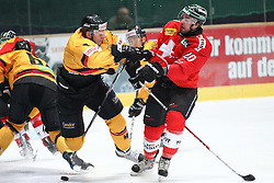 14.11.2010, Olympiahalle, Muenchen, GER, Deutschland Cup , Deutschland vs Schweiz , im Bild Dennis Reul (Deutschland #2) und Froidevaux Etienne (Schweiz #20) , EXPA Pictures © 2010, PhotoCredit: EXPA/ nph/  Straubmeier+++++ ATTENTION - OUT OF GER +++++