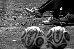 Caixas do Sul, 03/09/2011 - Lance da partida entre as equipes do Orion e Projeto CAE, válida pela Copa Coca-Cola, no campo do Complexo Esportivo Zona Norte, em Caxias do Sul. FOTO: Lucas Uebel/Preview.com